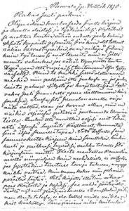 Vanhan lukkarin Josef Simeliuksen kirje pojalleen Joelille 7.4.1890