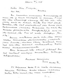 Urho Kekkosen kirje Elias Simojoelle